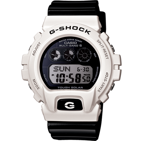 Casio G-Shock Multi Band 6 Black & White Atomic Digital Watch GW6900GW-7