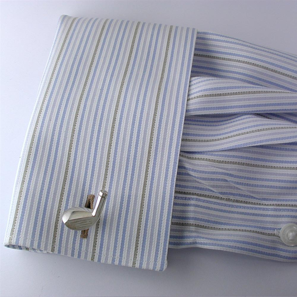 Deakin & Francis Golf Club Silver Cufflinks