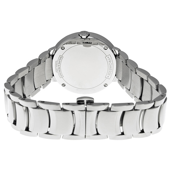 Baume & Mercier Promesse Diamond Bezel Ladies Steel Quartz Watch 30mm 10160