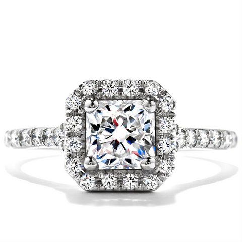 Hearts on Fire Transcend Dream Diamond Halo Engagement Ring