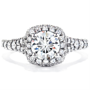 Hearts on Fire Acclaim Round Diamond Halo Engagement Ring