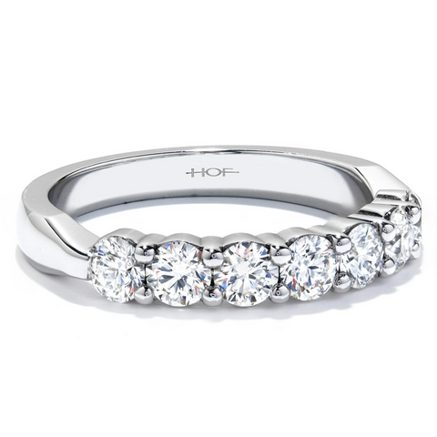 Hearts on Fire 7 Stone Diamond Wedding Band Ring .95ctw