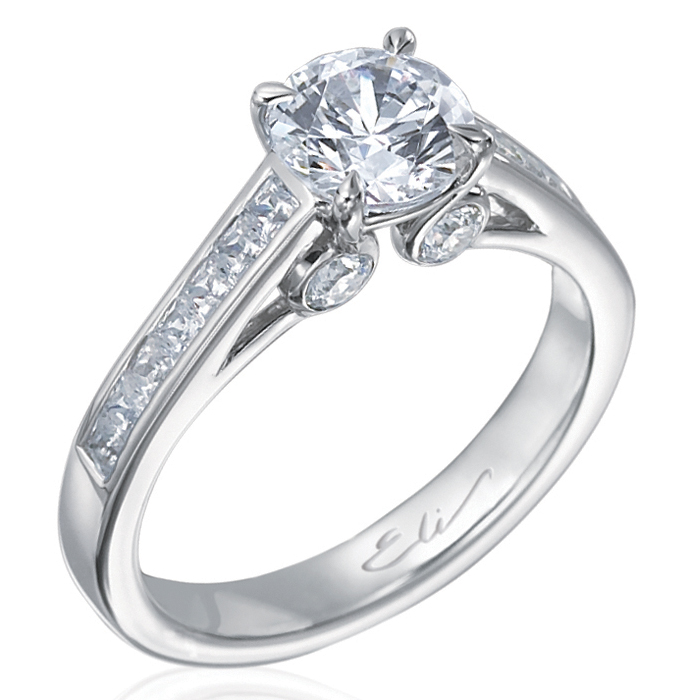 Royale Round Diamond Solitaire Engagement Ring in Platinum