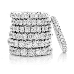 Mattioli X-Band Celebration Stretch Diamond Eternity Band Ring 18K 2.04 carats tw