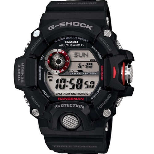 Casio G-Shock Black Master of G Series Rangeman Watch GW9400-1