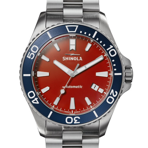 Shinola 43MM Lake Harbor Monster Automatic Red Dial Watch S0120183132