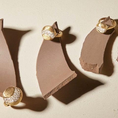 Different sizes of the Africa constellation ring by Marco Bicego