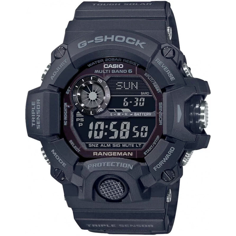 asio G-SHOCK RANGEMAN GW-9400 Digital Black Out GW-9400-1B Solar