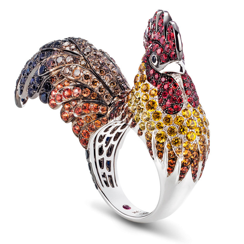 Roberto Coin Fancy Color Sapphire Year of the Rooster Ring 2017 ADV378RI0162