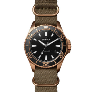 Shinola Bronze Monster Automatic 43mm Limited Gift Set Prohibition Rumrunner