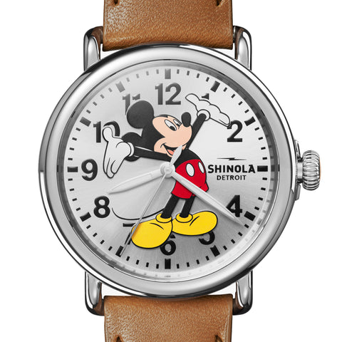Shinola Limited-Edition Celebration Mickey Mouse Runwell 41mm Watch