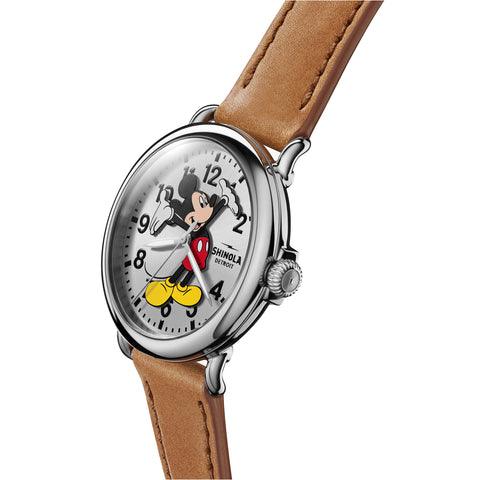 Shinola Limited-Edition Celebration Mickey Mouse Runwell 41mm Watch side