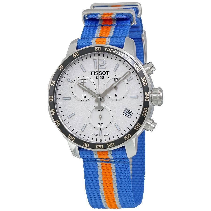 Tissot New York Knicks Quickster Quartz 42mm Blue Orange Watch T0954171703706 NBA Stamford