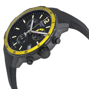 Tissot Quickster Chronograph 42mm Football Black & Yellow Watch T0954493705700