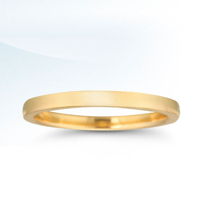 14k Yellow Gold 2MM Low Dome Band