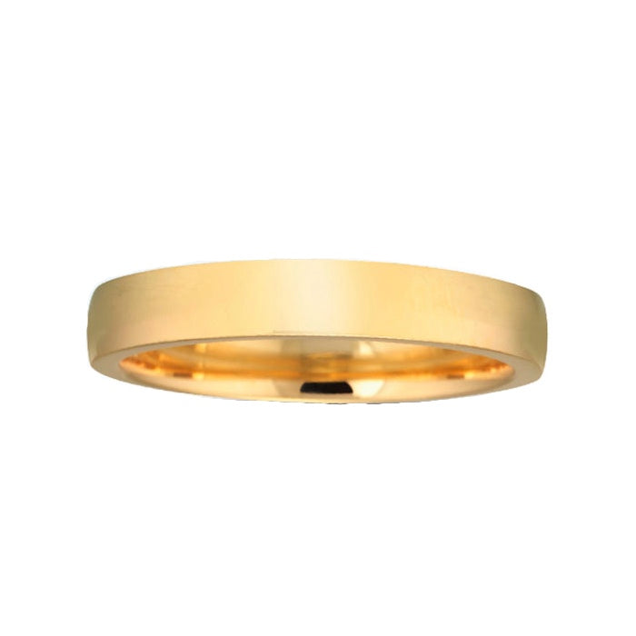 14K Gold 4MM Low Dome Gents Wedding Band ZV8-4
