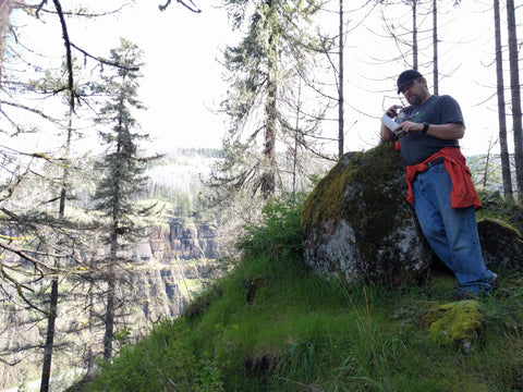 Geocache on a ridge over the Clackamas River