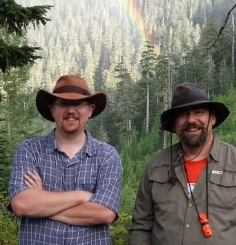Nathan and Larry Short, son and father (left and right) developed Mushroom Obsession to help dads and their kids learn about the mystical and magnificent world of exotic mushrooms.