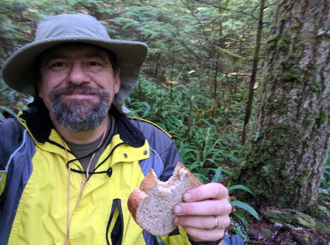 Lunch break while mushroom hunting in the Gifford Pinchot National Forest