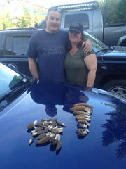 My sister Kay and her husband Tom assisted me in a Spring Morel hunt in a burned-out canyon west of Leavenworth, Washington. We found a few decent Fire Morels, mostly growing in the shade on the north side of downed logs, within 50 feet of a stream.