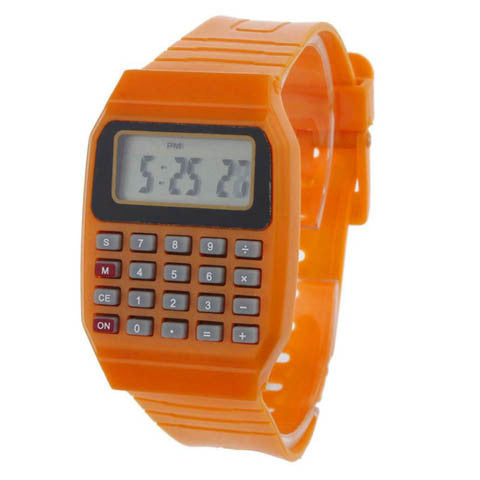 Unsex Children Silicone Date Time Electronic Wrist Calculator Watch 11S61013