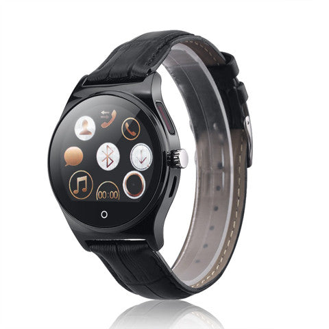 R11 Smart Watch  Calls/SMS Sedentary Reminder BT Music Pedometer For Android/ IOS- Black