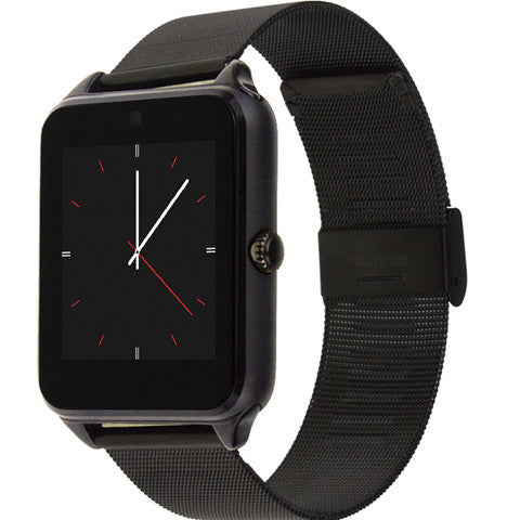 GT08 Plus Metal Watch Bluetooth Connectivity Android , Support Sim Card Sync Notifier Messages