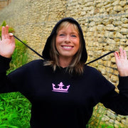 Embroidered Queen's Crown Oversized Hoodie - Morgz Merch