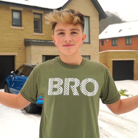 Bro Logo T-Shirt Green - Morgz Merch