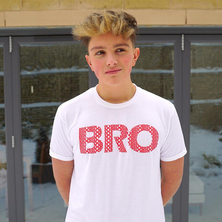Bro Logo T-Shirt White - Morgz Merch