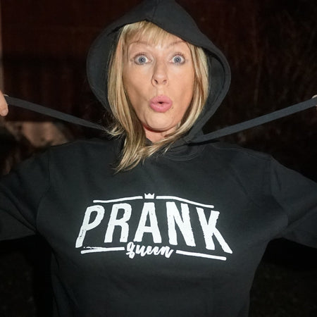 Prank Queen Hoodie Black & White - Morgz Merch