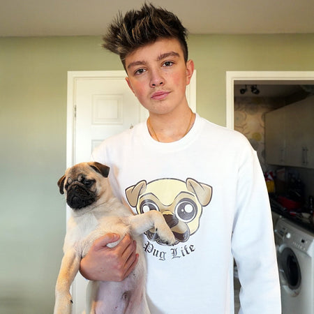 Pug Life Sweatshirt - Morgz Merch