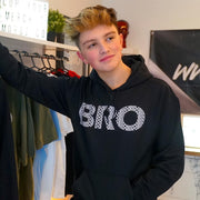 Bro Logo Hoodie Black - Morgz Merch