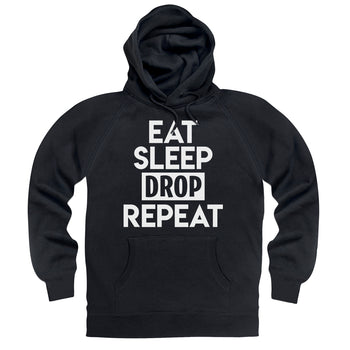 Eat Sleep Drop Repeat Black Hoodie - Morgz Merch