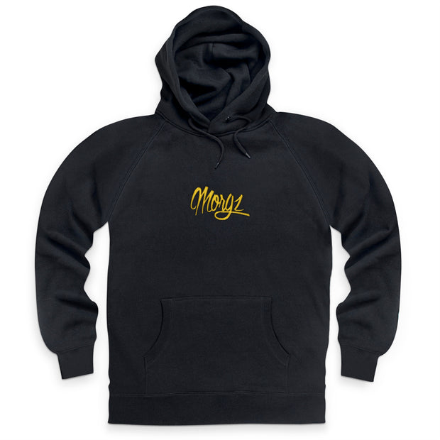 Gold Embroidered Signature Hoodie - Morgz Merch
