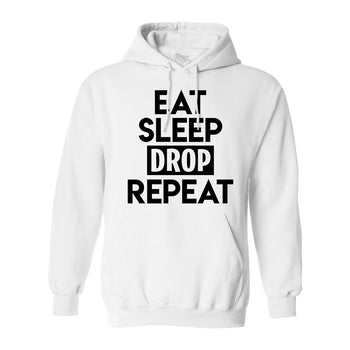 Eat Sleep Drop Repeat White Hoodie - Morgz Merch