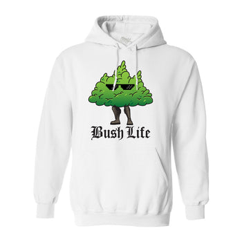 Bush Life White Hoodie - Morgz Merch