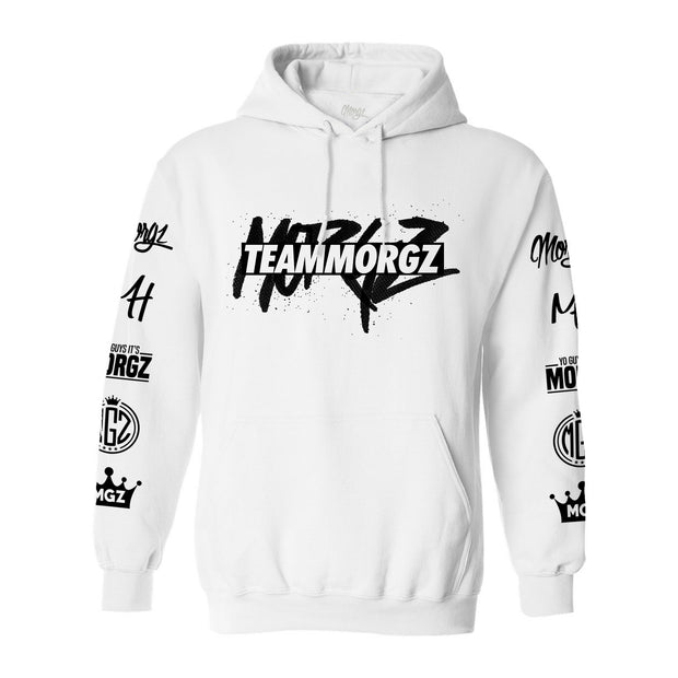 Ultimate TeamMorgz Hoodie White - Morgz Merch