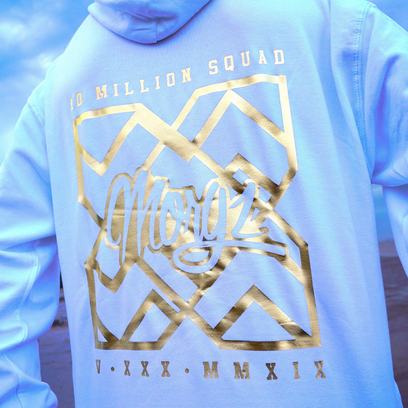 Special Edition Gold 10 Million White Hoodie