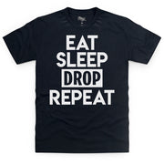 Eat Sleep Drop Repeat Black T-Shirt - Morgz Merch