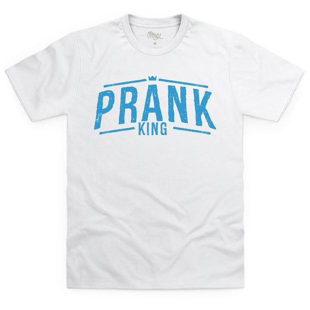 Prank King T-Shirt White & Blue - Morgz Merch