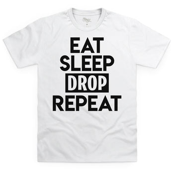 Eat Sleep Drop Repeat White T-Shirt - Morgz Merch