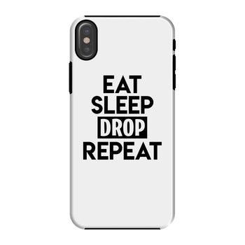 Eat Sleep Drop Repeat White Phone Case - Morgz Merch