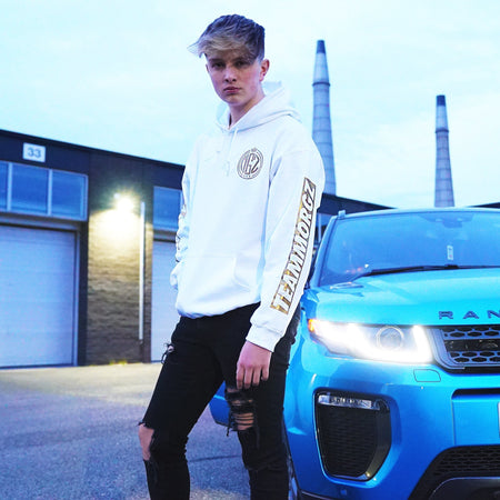 Metallic Gold '3 Million' Hoodie - Morgz Merch