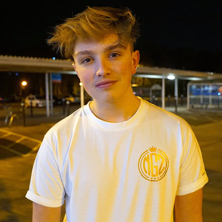 Metallic Gold '3 Million' T-Shirt - Morgz Merch