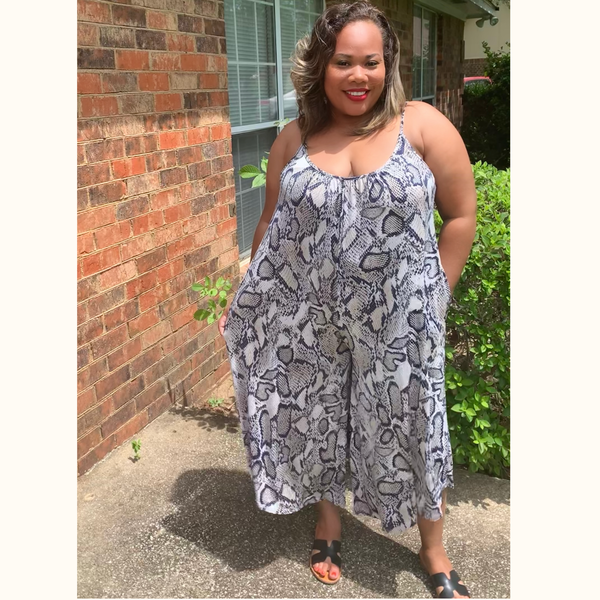 Rayana Romper| Plus Size Wide Leg Romper - She's Fly Boutique