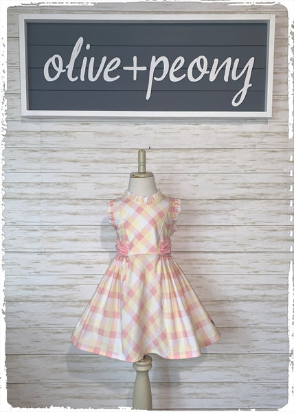 Springtime Plaid Sundress