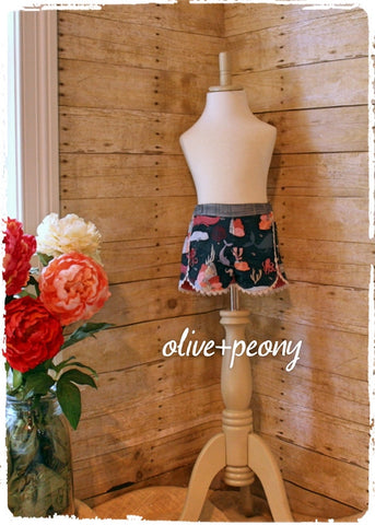 Under the Sea Tulip Shorts