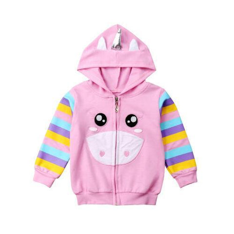 Petite Bello 1-2T Unicorn Hooded Jacket