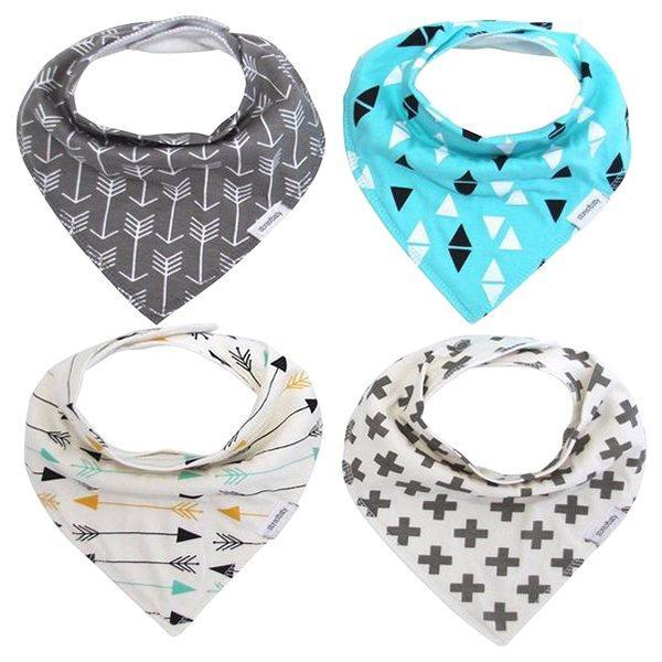 Petite Bello Bandana Set White Bandana 4pcs Set